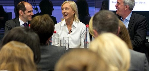 How News Presenters Ltd assisted Martina Navratilova at this year's Australian Open